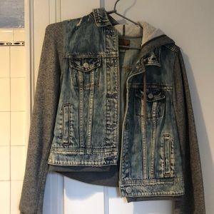 american eagle jean/sweater jacket